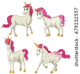 white unicorn in four actions...