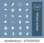media icon set  vector | Shutterstock .eps vector #679239253
