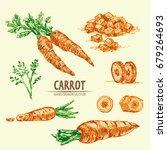 digital vector detailed line... | Shutterstock .eps vector #679264693