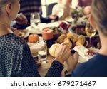 thanksgiving celebration... | Shutterstock . vector #679271467