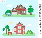family home   icon set 1....   Shutterstock .eps vector #679276207