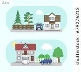 family home   icon set 8....   Shutterstock .eps vector #679276213