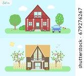 family home   icon set 5....   Shutterstock .eps vector #679276267
