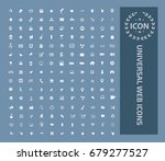 universal web icon set vector | Shutterstock .eps vector #679277527