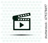 movie clap   black vector icon | Shutterstock .eps vector #679278697