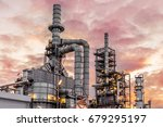 industrial view at oil refinery ... | Shutterstock . vector #679295197