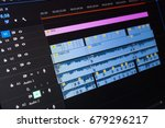 video editing time line on... | Shutterstock . vector #679296217