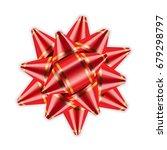 red bow ribbon decor element... | Shutterstock .eps vector #679298797