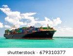 Cargo Ship Sailing To Miami ...