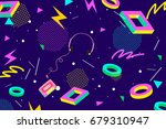 retro eighties abstract... | Shutterstock .eps vector #679310947