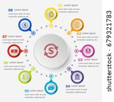 infographic template with... | Shutterstock .eps vector #679321783