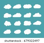 clouds vector set. sky clouds... | Shutterstock .eps vector #679322497