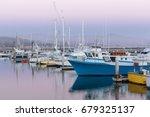 pillar point harbor dusk. half... | Shutterstock . vector #679325137