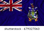 3d flag of south georgia and... | Shutterstock . vector #679327063