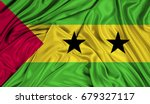 3d flag of sao tome and... | Shutterstock . vector #679327117