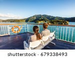 new zealand cruise travel... | Shutterstock . vector #679338493