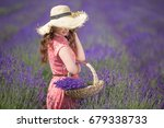 woman in lavender | Shutterstock . vector #679338733