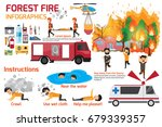 forest fire infographics.... | Shutterstock .eps vector #679339357