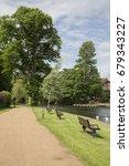 Small photo of Footpath alongside River, Stratford Upon Avon, England, UK