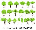 set of trees on white... | Shutterstock .eps vector #679349767