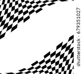 checkered racing flag isolated... | Shutterstock .eps vector #679351027