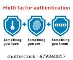 multi factor authentication... | Shutterstock .eps vector #679360057