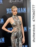 Small photo of Cara Delevingne at the World premiere of 'Valerian And The City Of A Thousand Planets' held at the TCL Chinese Theatre in Hollywood, USA on July 17, 2017.