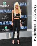 Small photo of Tara Reid at the World premiere of 'Valerian And The City Of A Thousand Planets' held at the TCL Chinese Theatre in Hollywood, USA on July 17, 2017.