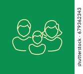 family icon flat.   Shutterstock .eps vector #679362343