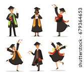 success and happy students.... | Shutterstock .eps vector #679364653