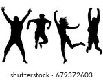 silhouettes of happy people... | Shutterstock . vector #679372603
