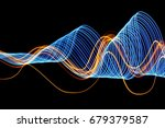 blue and gold light painting... | Shutterstock . vector #679379587
