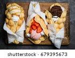 hong kong waffles | Shutterstock . vector #679395673