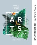 bright tropical background with ... | Shutterstock .eps vector #679397173