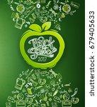 back to school vertical... | Shutterstock .eps vector #679405633