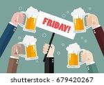 hands holding friday sign....   Shutterstock .eps vector #679420267