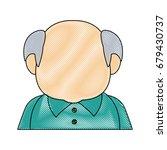 portrait of happy grandfather...   Shutterstock .eps vector #679430737