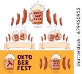 oktoberfest  beer festival logo ... | Shutterstock .eps vector #679430953