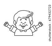 portrait happy grandfather man...   Shutterstock .eps vector #679432723