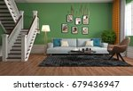 interior living room. 3d... | Shutterstock . vector #679436947