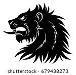 heraldic lion head simple | Shutterstock .eps vector #679438273