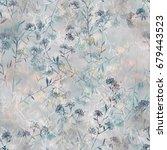 imprints herbarium   dry grass  ... | Shutterstock . vector #679443523