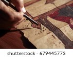 detail shot of an old and... | Shutterstock . vector #679445773