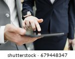 close up of business partners... | Shutterstock . vector #679448347