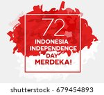 indonesia independence day... | Shutterstock .eps vector #679454893
