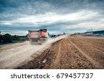 industrial dumper trucks... | Shutterstock . vector #679457737