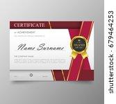 certificate premium template... | Shutterstock .eps vector #679464253