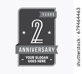 2 years anniversary design... | Shutterstock .eps vector #679464463