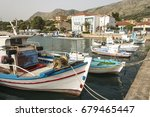Small photo of Plagia, Greece- May 12, 2017 : Fishing port in Plagia, Greece