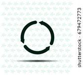 circular arrows vector icon   Shutterstock .eps vector #679472773